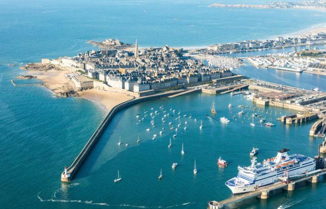 Saint-Malo vu du ciel